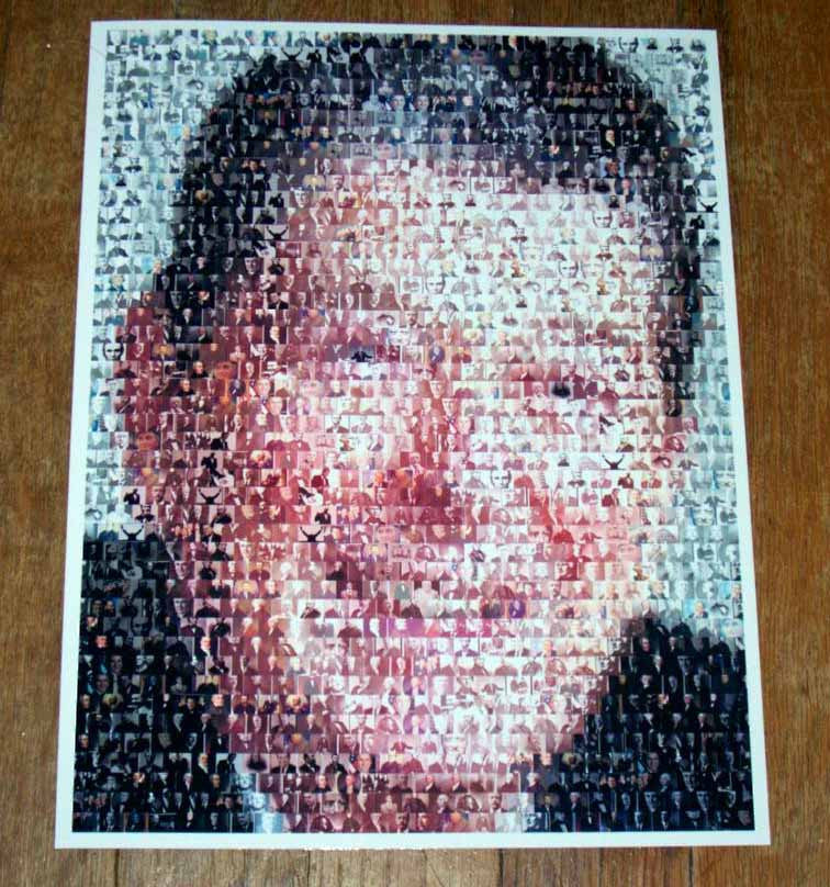 Ronald Reagan Presidents Mosaic INCREDIBLE , Movie Memorabilia - Final Score Products, Final Score Products  - 1