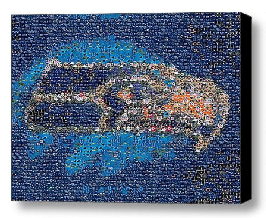 Seattle Seahawks logo NFL button Mosaic INCREDIBLE , Sports Collectibles - Final Score Products, Final Score Products  - 1