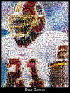 Washington Redskins Sean Taylor Mosaic Print Limited Edition , Posters, Prints & Pictures - Artist Paul Van Scott, Final Score Products  - 1