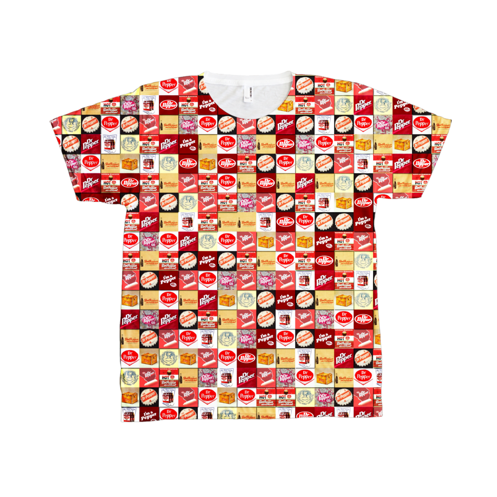 Exclusive RARE One-Of-A-Kind History Dr. Pepper Drink logos all-over-print shirt