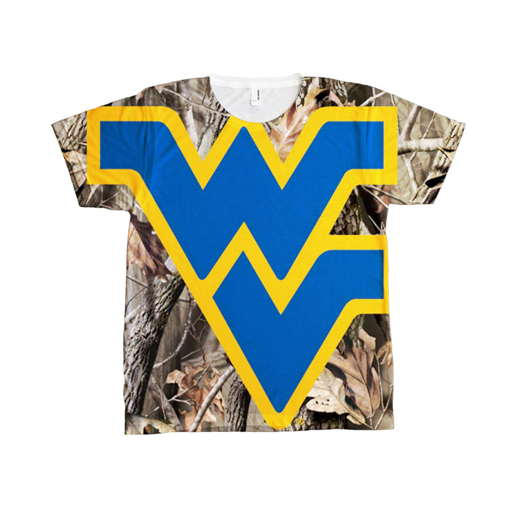 West Virginia WVU Mountaineers Camo Camouflage all-over-print shirt
