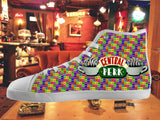 Friends TV Show Central Perk High Top Shoes Mens Womens Kids , Shoes - Final Score Products, Final Score Products  - 1