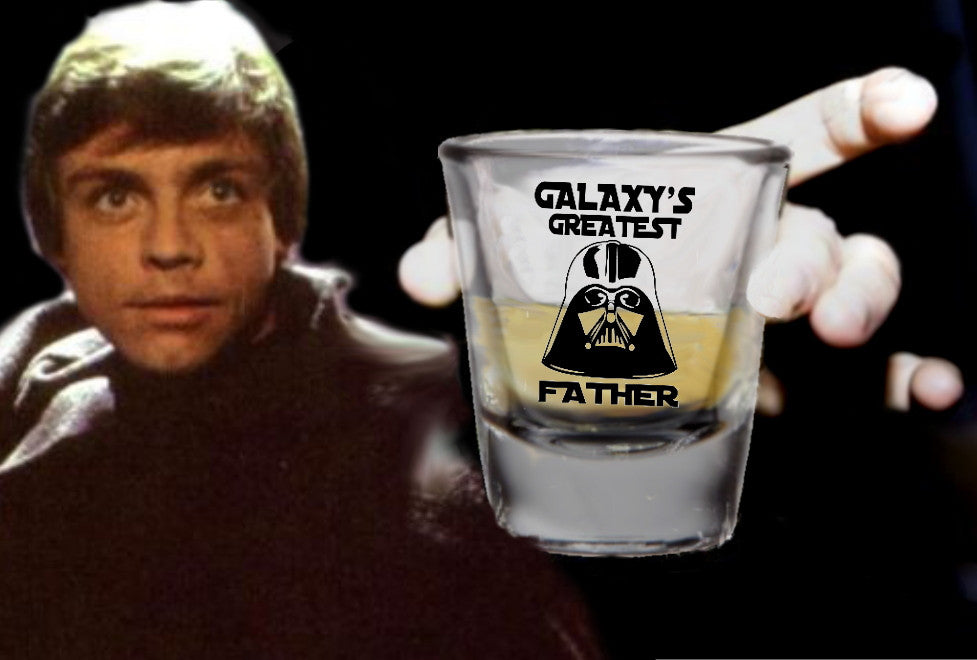 Star Wars Darth Vader Galaxy's Greatest Father Best Dad  Promo Shot Glass LIMITED EDITION , Shot Glass - Final Score Products, Final Score Products  - 1