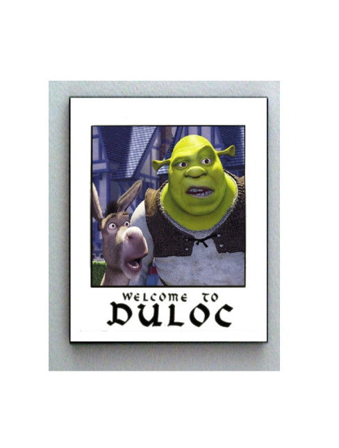 Shrek and Donkey Welcome To Duloc prop color print Limited Edition