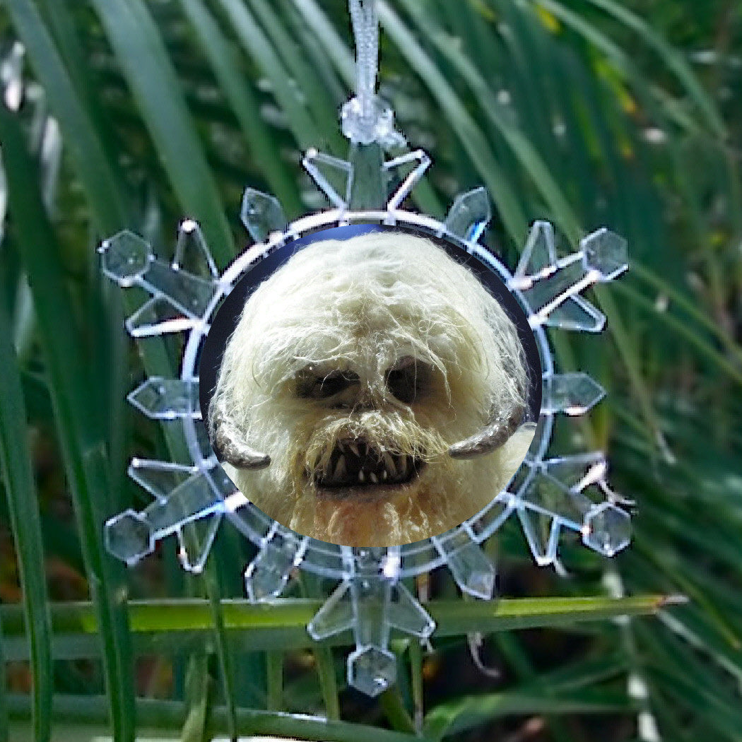 Star Wars Ice Planet Hoth Wampa Snowflake Blinking Light Holiday Christmas Tree Ornament , Holiday Decor - Final Score Products, Final Score Products  - 1