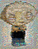Family Guy Stewie Mosaic INCREDIBLE Framed or Unframed Print Limited Edition. Choose your size. , Posters, Prints & Pictures - Artist Paul Van Scott, Final Score Products  - 1