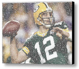 Green Bay Packers Aaron Rodgers Quotes Mosaic INCREDIBLE , Sports Collectibles - Final Score Products, Final Score Products  - 1
