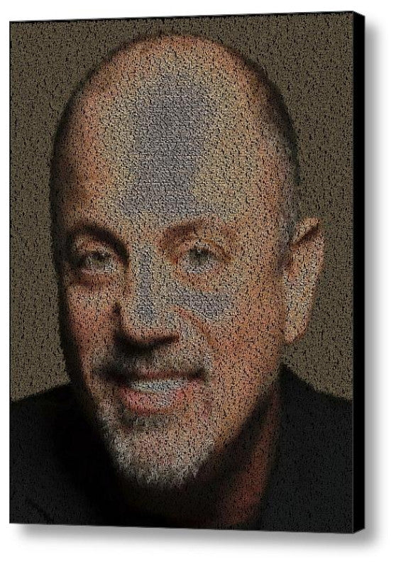 Incredible Billy Joel Song List Mosaic Print Limited Edition , Posters, Prints & Pictures - Artist Paul Van Scott, Final Score Products  - 1