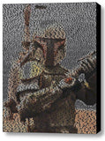 Star Wars Boba Fett Quotes Mosaic INCREDIBLE , Movie Memorabilia - Final Score Products, Final Score Products  - 1