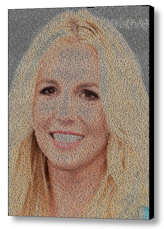 Britney Jean Spears Baby One More Time Lyrics Mosaic Print Limited Edition , Posters, Prints & Pictures - Artist Paul Van Scott, Final Score Products  - 1
