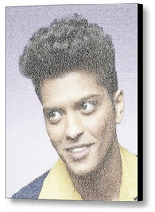 Bruno Mars Mark Ronson UpTown Funk Song Lyrics Mosaic Print Limited Edition , Posters, Prints & Pictures - Artist Paul Van Scott, Final Score Products  - 1