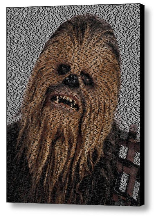 Limited Edition Chewbacca Star Wars Terms Text Mosaic INCREDIBLE