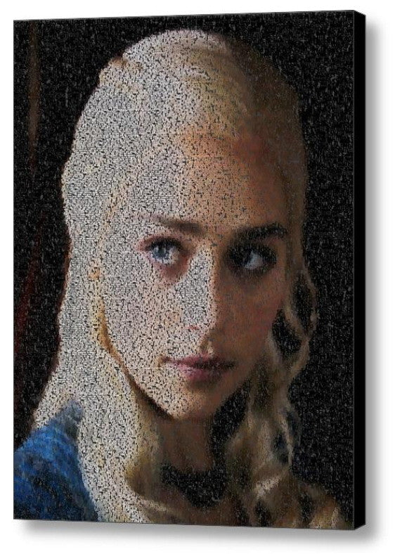 Game Of Thrones Daenerys Targaryen Quotes Mosaic Print Limited Edition , Posters, Prints & Pictures - Artist Paul Van Scott, Final Score Products  - 1
