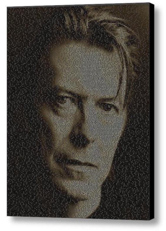 Incredible David Bowie Song List Mosaic Print Limited Edition , Posters, Prints & Pictures - Artist Paul Van Scott, Final Score Products  - 1