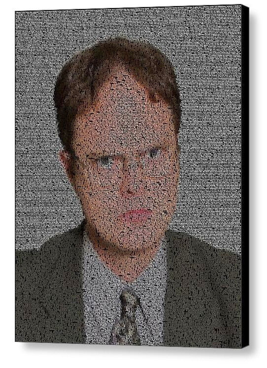 The Office Dwight Schrute Quotes Mosaic INCREDIBLE , TV Memorabilia - Final Score Products, Final Score Products  - 1