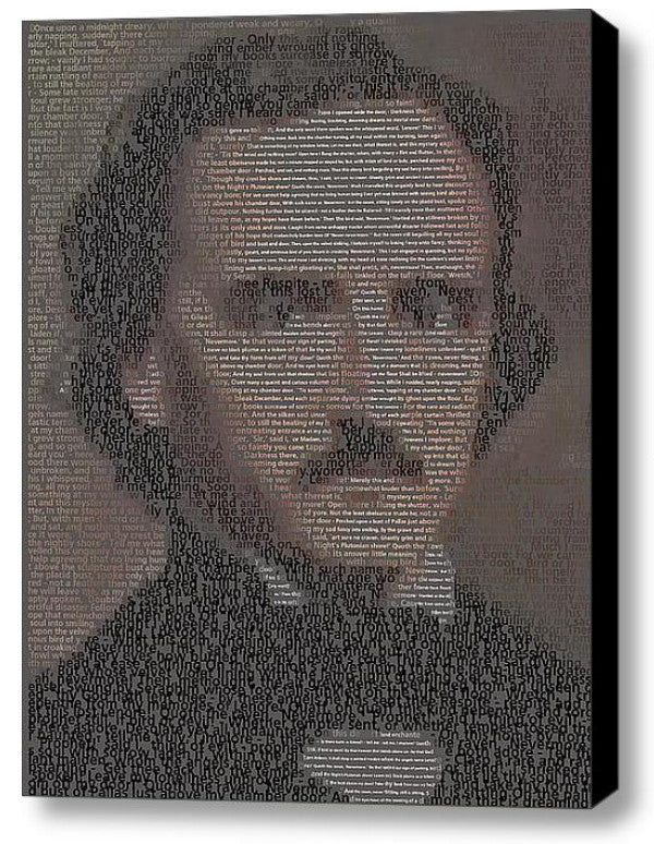 Edgar Allan Poe The Raven text Mosaic INCREDIBLE , Slightly Unusual - Final Score Products, Final Score Products  - 1