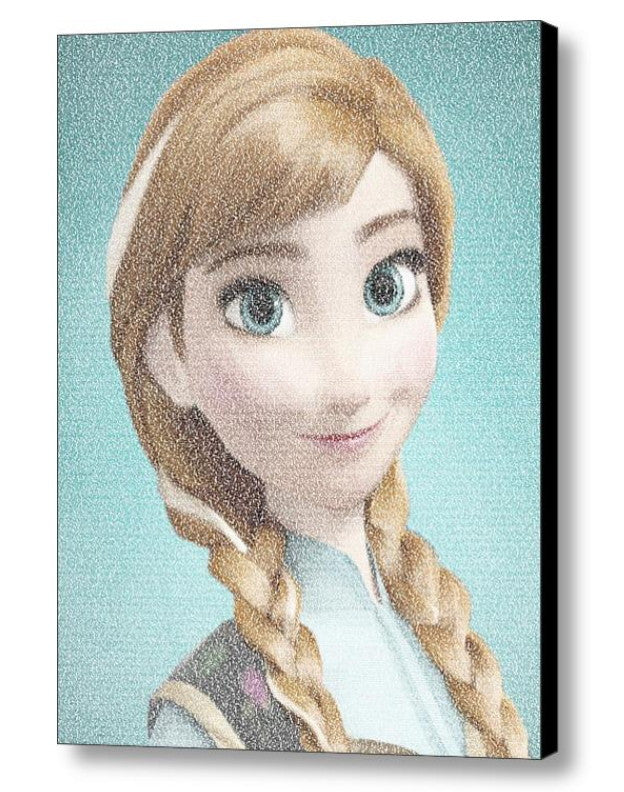 Frozen Anna For The First Time in Forever Lyrics Mosaic Framed/Unframed Print Limited Edition , Posters, Prints & Pictures - Artist Paul Van Scott, Final Score Products  - 1