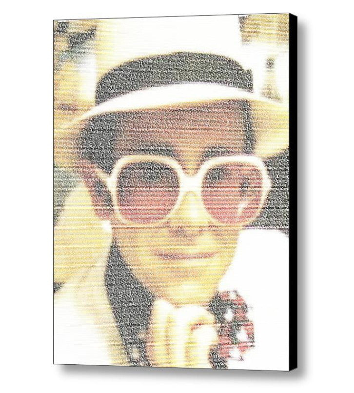 Elton John Every Song Mosaic INCREDIBLE Framed or Unframed Print Limited Edition. Choose your size. , Posters, Prints & Pictures - Artist Paul Van Scott, Final Score Products  - 1