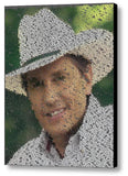 George Strait Song List INCREDIBLE Mosaic Print Limited Edition , Posters, Prints & Pictures - Artist Paul Van Scott, Final Score Products  - 1