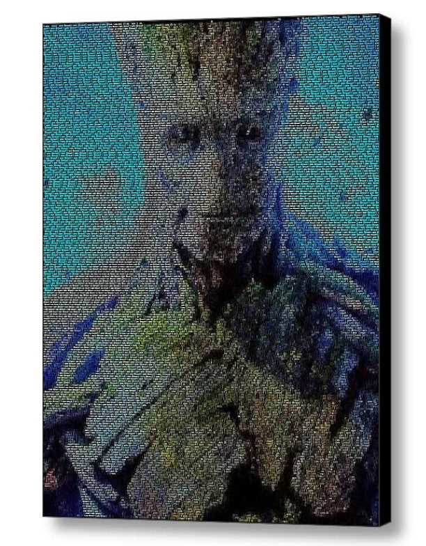 Guardians of the Galaxy I am GROOT Quotes Mosaic INCREDIBLE , Superhero - Final Score Products, Final Score Products  - 1