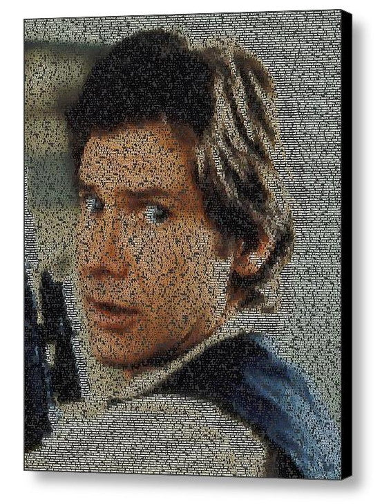 Star Wars font Han Solo Quotes Mosaic INCREDIBLE , Movie Memorabilia - Final Score Products, Final Score Products  - 1