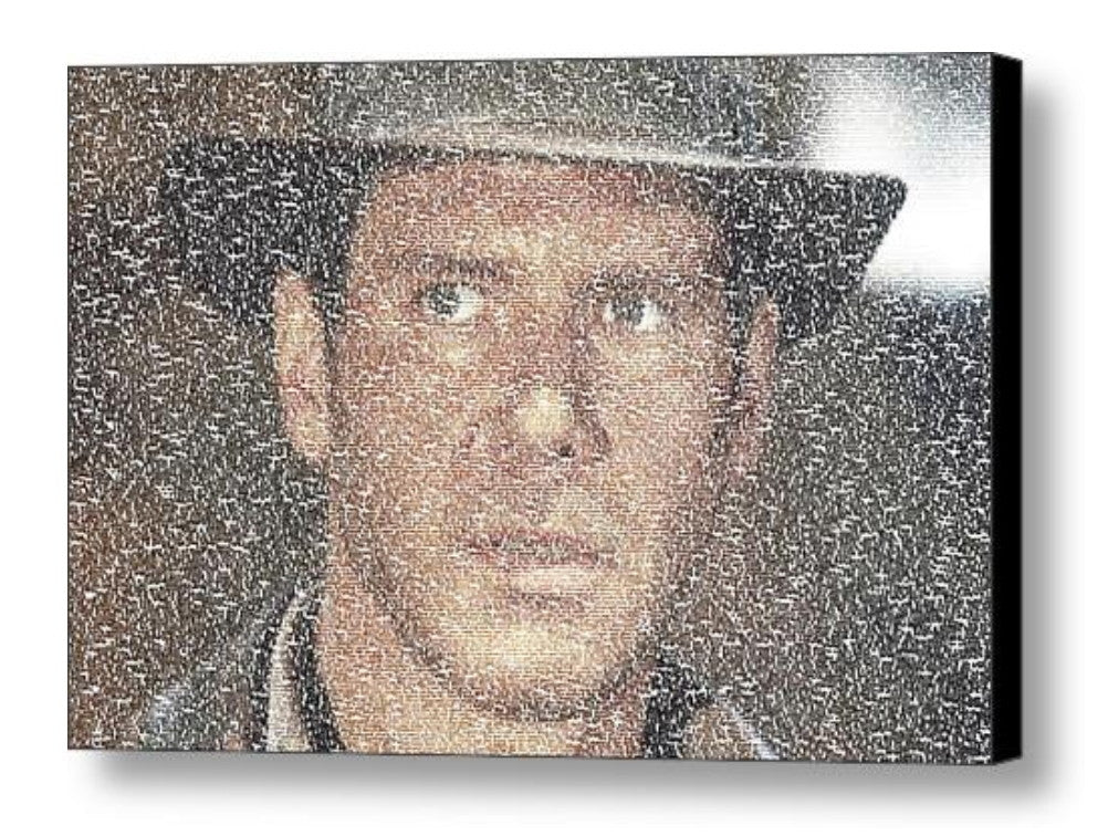 Harrison Ford Indiana Jones Quotes Mosaic INCREDIBLE , Movie Memorabilia - Final Score Products, Final Score Products  - 1