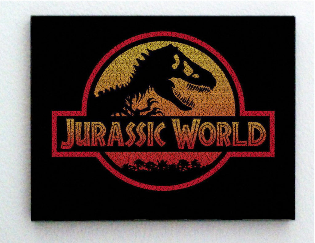 Incredible Jurassic World Dinosaur List Mosaic Print Limited Edition