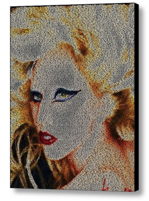 Lady Gaga Born This Way Song Lyrics Mosaic Print Limited Edition , Posters, Prints & Pictures - Artist Paul Van Scott, Final Score Products  - 1