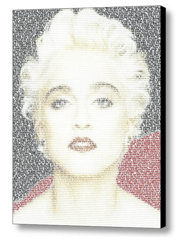 Madonna Like A Virgin Lyrics Mosaic INCREDIBLE , Music Memorabilia - Final Score Products, Final Score Products  - 1
