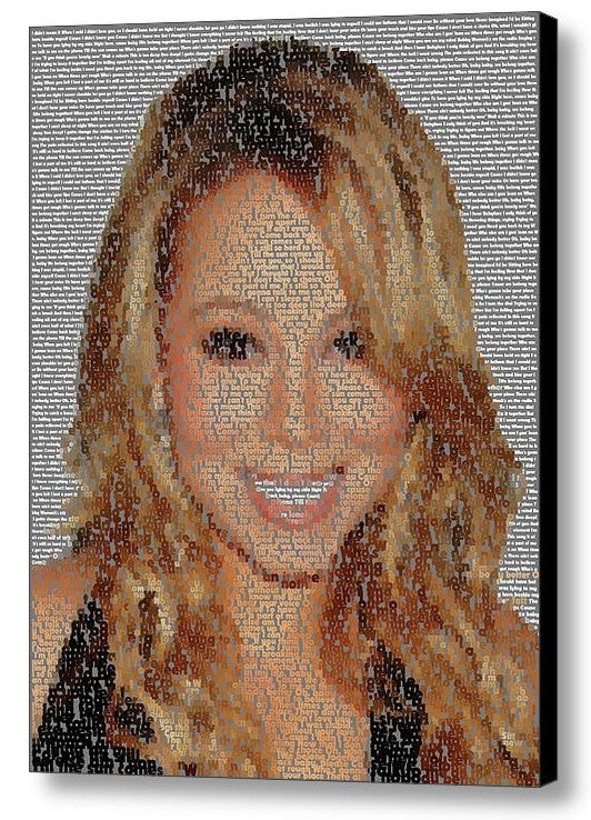 Mariah Carey We Belong Together Song Lyrics Mosaic Print Limited Edition