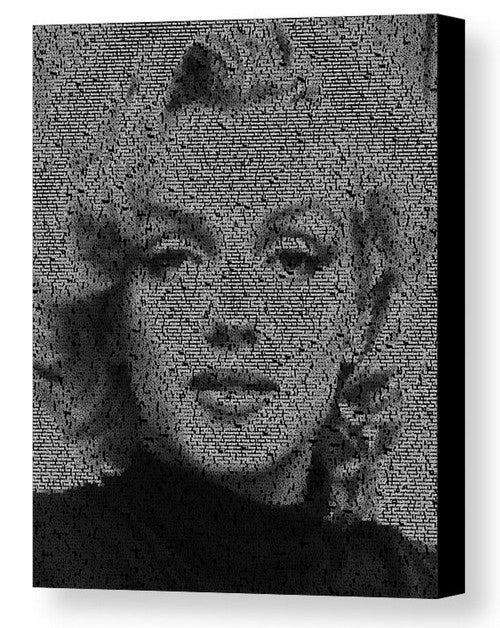 Citaten Van Marilyn Monroe : Marilyn monroe real quotes mosaic print limited edition u final