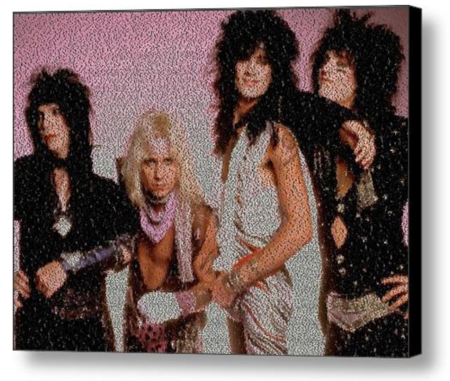 Motley Crue Girls, Girls, Girls Lyrics Mosaic Print Limited Edition