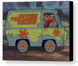 The Scooby Doo Mystery Machine Where Are You Song Lyrics Mosaic Print Limited Edition , Posters, Prints & Pictures - Artist Paul Van Scott, Final Score Products  - 1