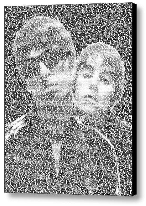 Oasis Wonderwall Song Lyrics Mosaic Print Limited Edition , Posters, Prints & Pictures - Artist Paul Van Scott, Final Score Products  - 1