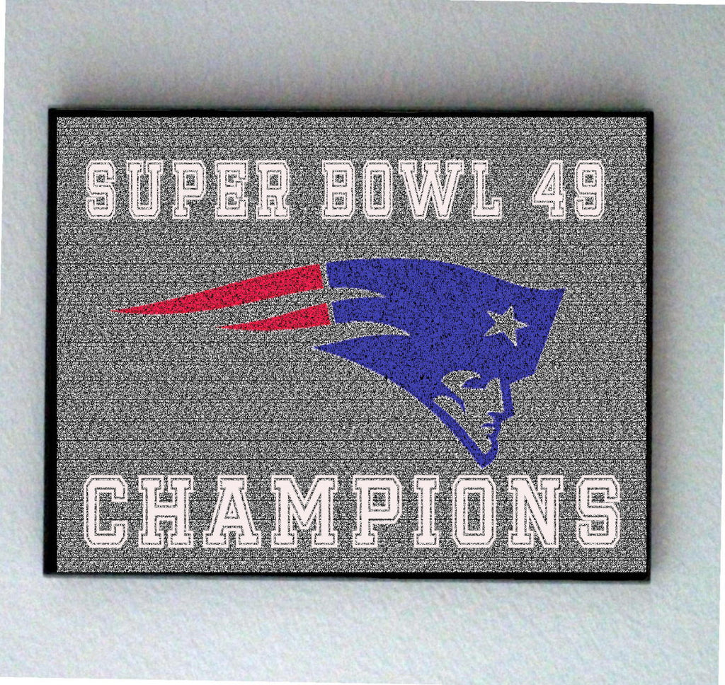 Official New England Patriots Super Bowl 49 Roster Mosaic Limited Edition INCREDIBLE