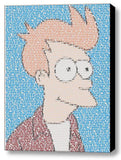 Futurama Philip J Fry Quotes Mosaic INCREDIBLE Framed or unframed Limited Edition Art Print , Posters, Prints & Pictures - Artist Paul Van Scott, Final Score Products  - 1