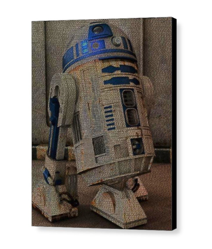 Star Wars R2D2 Language Text Quotes Mosaic INCREDIBLE , Movie Memorabilia - Final Score Products, Final Score Products  - 1