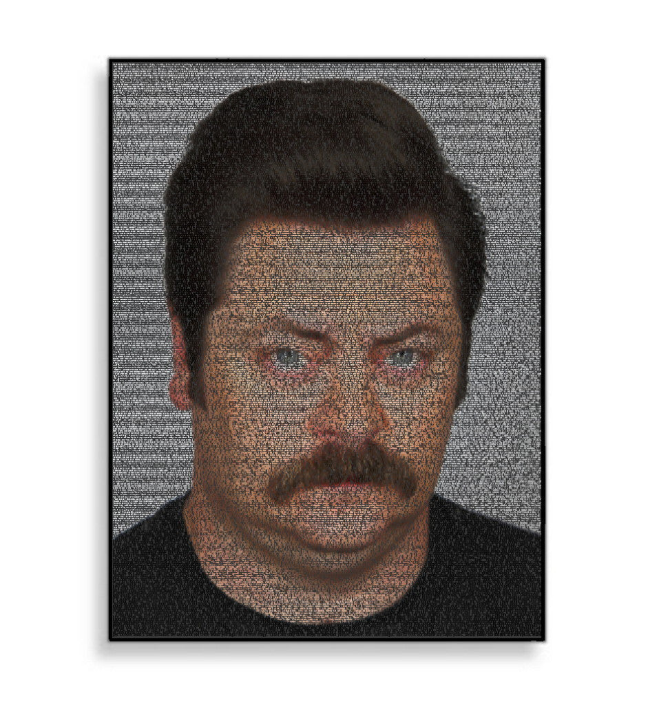 Ron Swanson Parks and Recreation Quotes Mosaic INCREDIBLE , TV Memorabilia - Final Score Products, Final Score Products  - 1