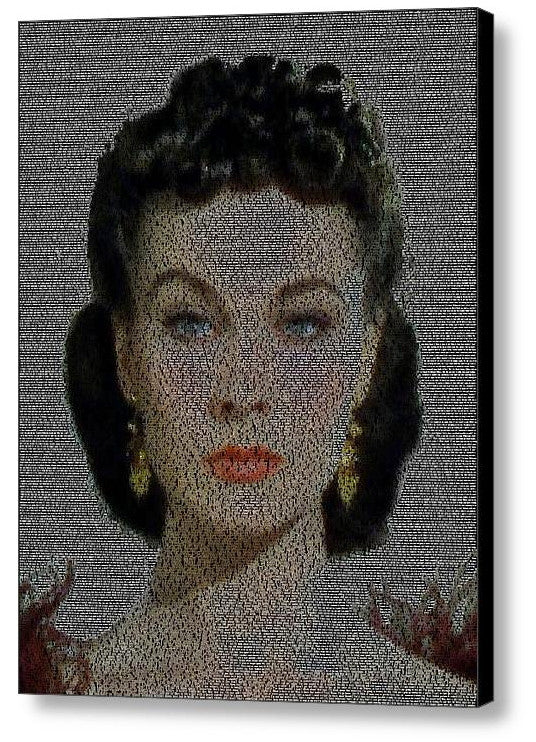 Scarlett O'Hara Gone With The Wind Quotes Mosaic INCREDIBLE , Movie Memorabilia - Final Score Products, Final Score Products  - 1