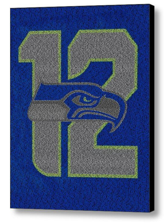 Official Seattle Seahawks 12th fan man 2014 Roster Mosaic Limited Edition , Sports Collectibles - Final Score Products, Final Score Products  - 1