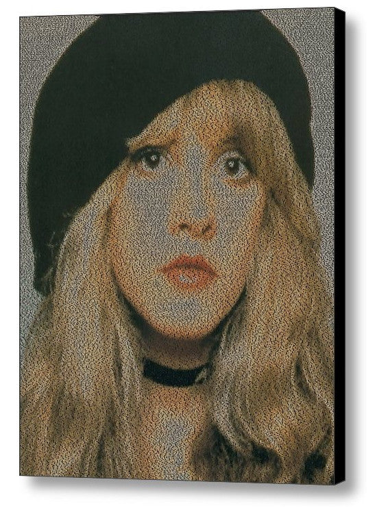 Stevie Nicks Edge of Seventeen Song Lyrics Mosaic Print Limited Edition , Posters, Prints & Pictures - Artist Paul Van Scott, Final Score Products  - 1