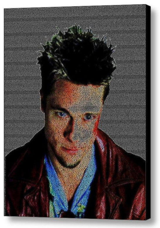 Brad Pitt Fight Club Tyler Durden Quotes Mosaic INCREDIBLE