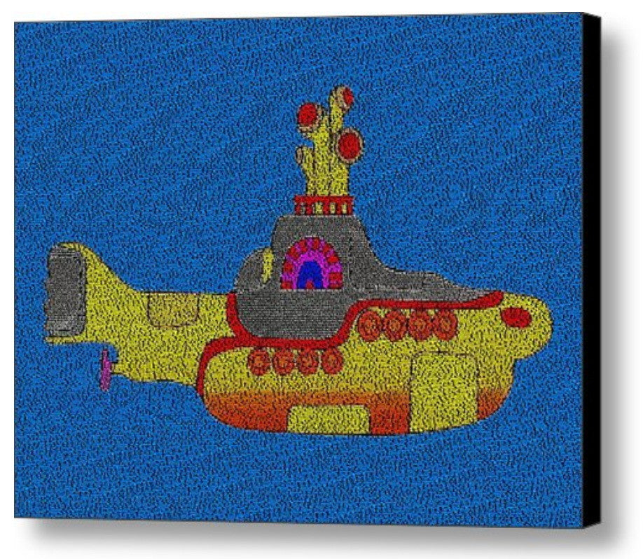Yellow Submarine The Beatles Song Lyrics Mosaic INCREDIBLE , Music Memorabilia - Final Score Products, Final Score Products  - 1