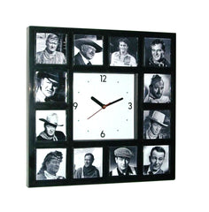 John Wayne History of The Duke Clock with 12 pictures , Watches & Clocks - n/a, Final Score Products