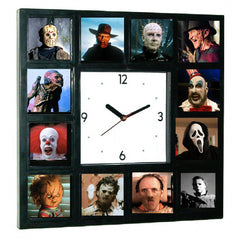 GLOW-IN-THE-DARK Horror Movie  Hannibal Lecter, Pinhead, Pumpkinhead, Chucky, Leatherface, Scream, Captain Spaulding, Michael Myers, Jason Voorhees, Creeper, Pennywise, Freddy Krueger, Halloween Clock , Spock - Final Score Products, Final Score Products  - 1
