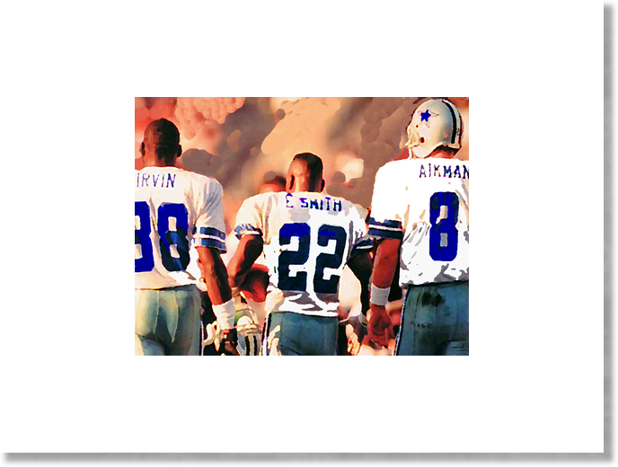 Framed/Unframed Dallas Cowboys Triplets print , Poster - Merchify.com, Final Score Products  - 1
