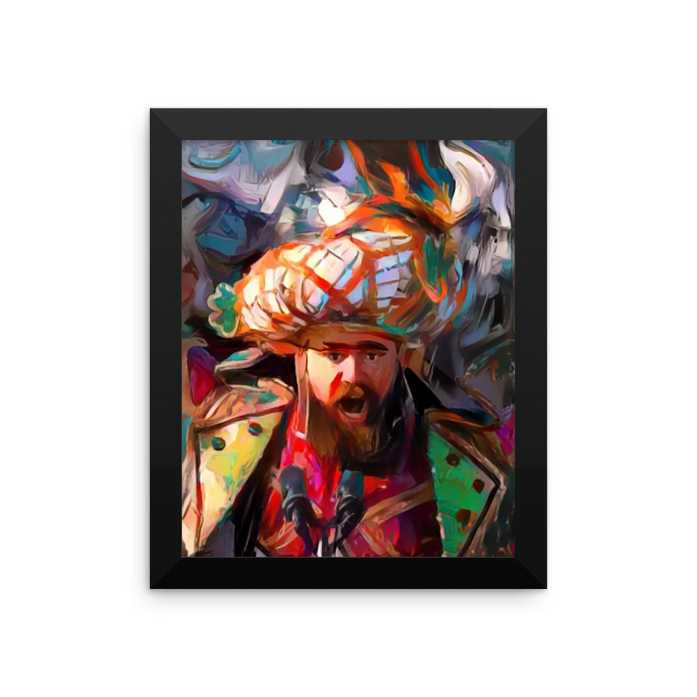 Framed FLY KELCE FLY Philadelphia Eagles Super Bowl 52 Jason Kelce Rant abstract art print (CHOOSE SIZE)