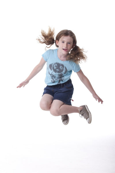 Kids Sensory Shorts Jumping Action Front View