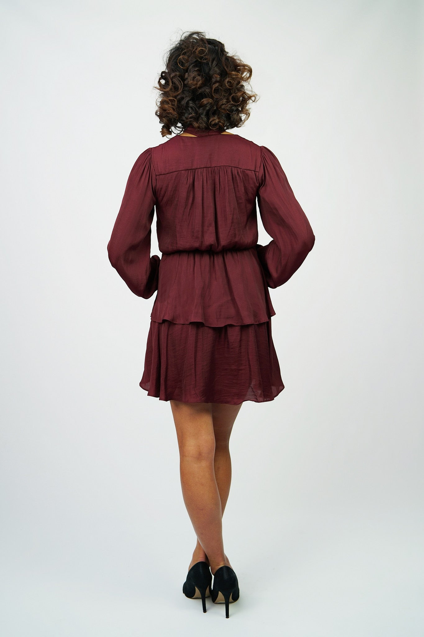 Ruffle cocktail dress