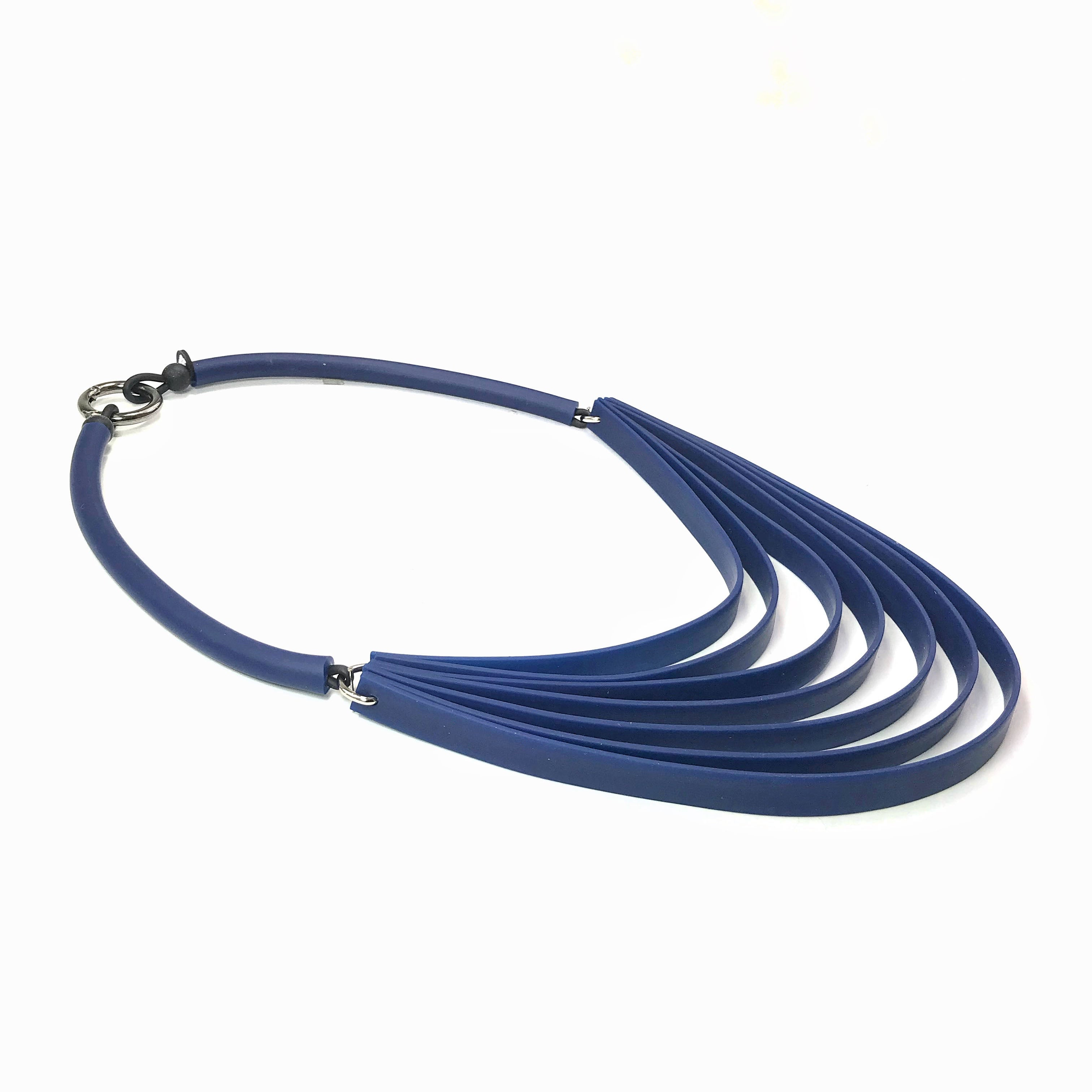7 strip rubber necklace